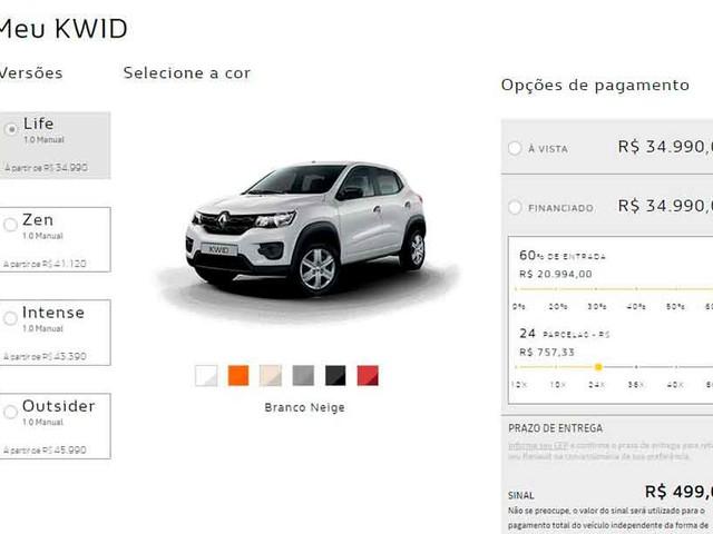 Renault passa a vender seus carros de passeio 100% on-line