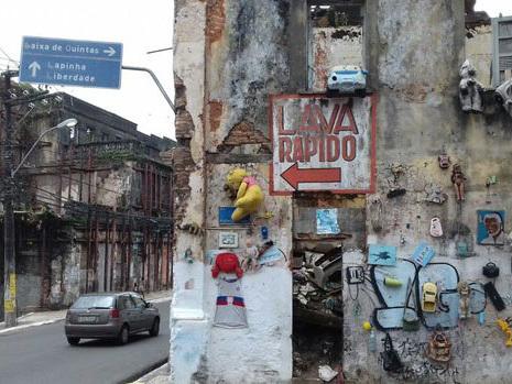 Rua no bairro do Barbalho é interditada por risco de queda de casarão