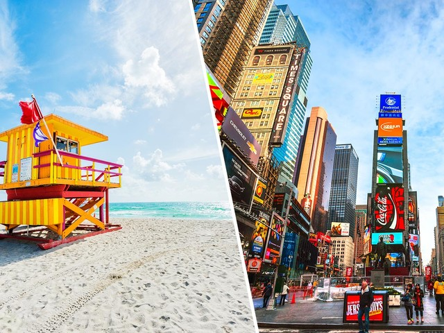 Oportunidade! Passagens para Nova York mais Miami na mesma viagem a partir de R$ 1.924!