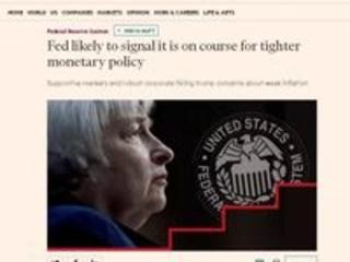 'Financial Times': Fed sinaliza política monetária mais apertada