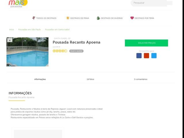 Pousada Recanto Apoena - Santa Isabel - SP