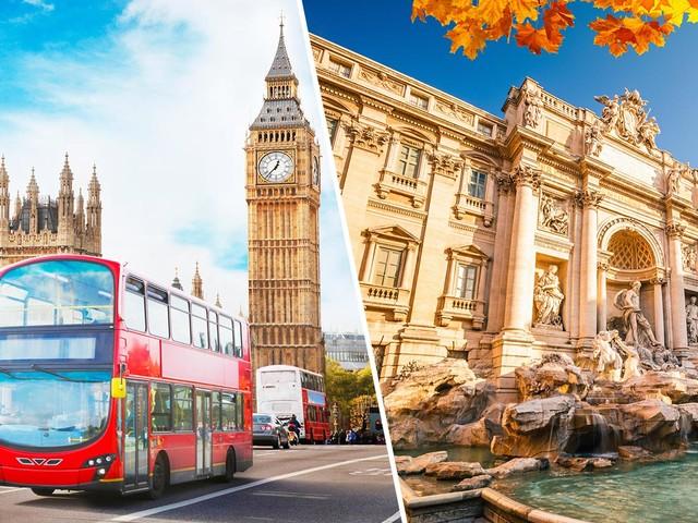 Inglaterra + Itália! Passagens para Londres mais Roma na mesma viagem a partir de R$ 2.139!