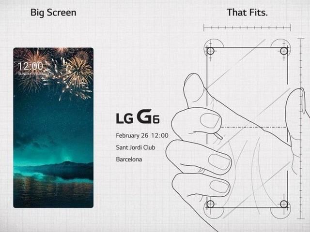 LG G6 aparece completamente sem bordas em convite oficial de lançamento