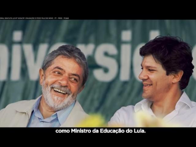 Fernando Haddad volta a mostrar Lula na TV na reta final da eleição