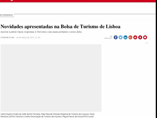 Novidades apresentadas na Bolsa de Turismo de Lisboa