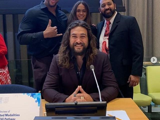Ator de 'Aquaman' alerta na ONU sobre risco de países desaparecerem com aquecimento global