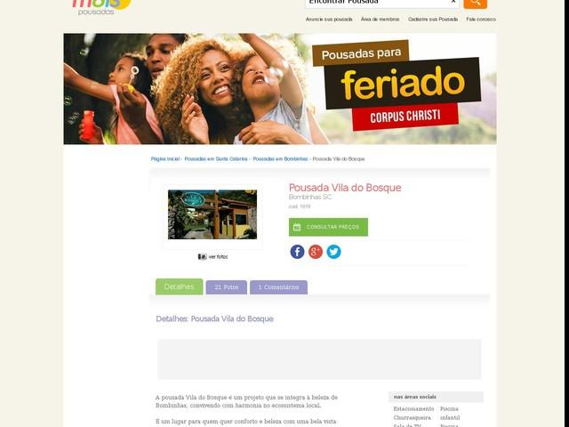 Pousada Vila do Bosque - Bombinhas - SC