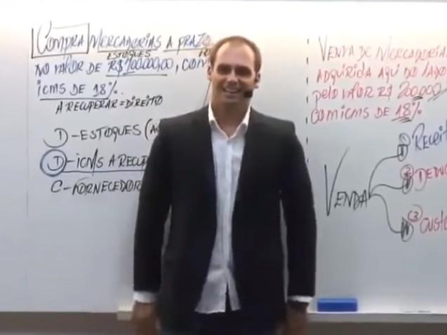 """""""Se quiser fechar o STF, é só mandar um soldado e um cabo"""", diz Eduardo Bolsonaro"""