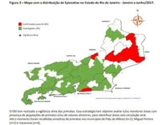 Febre Amarela : Rio de Janeiro tem 50 Municípios com epizootias em investigação