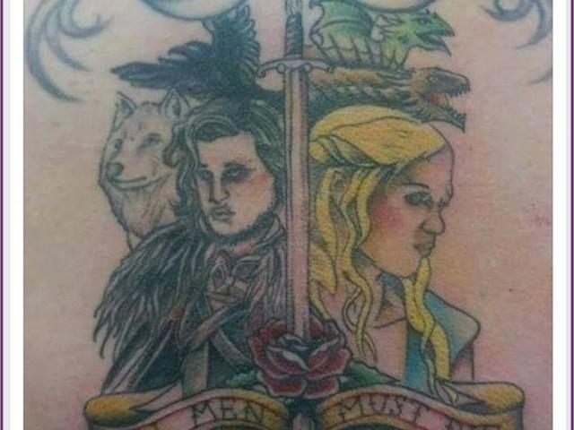 """A """"melhor"""" tatuagem de Game of Thrones que você verá hoje"""