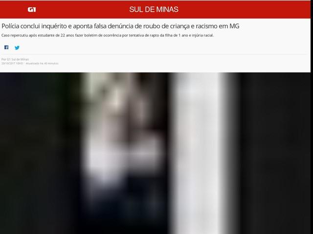 Polícia conclui inquérito e aponta falsa denúncia de roubo de criança e racismo em MG