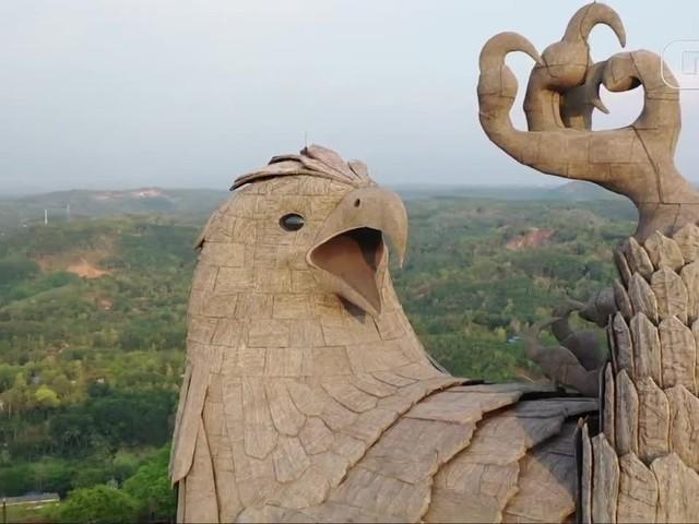 Maior estátua de ave do mundo fica na Índia; veja vídeo