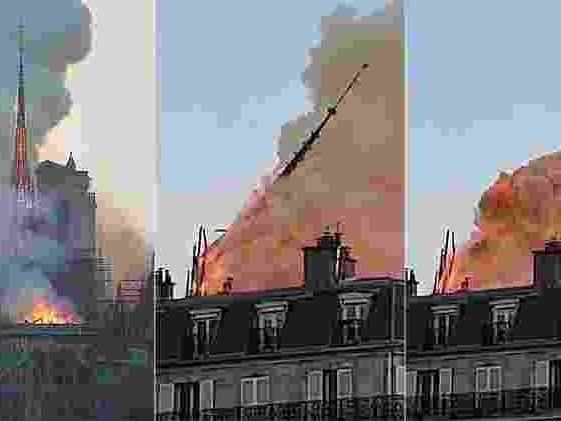 Catedral em Paris | Notre-Dame pega fogo