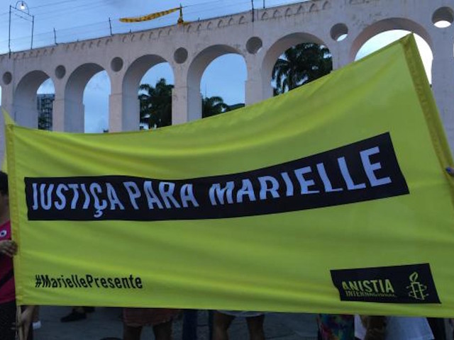 Protests Mark a Month of Rio Councilwoman's Murder
