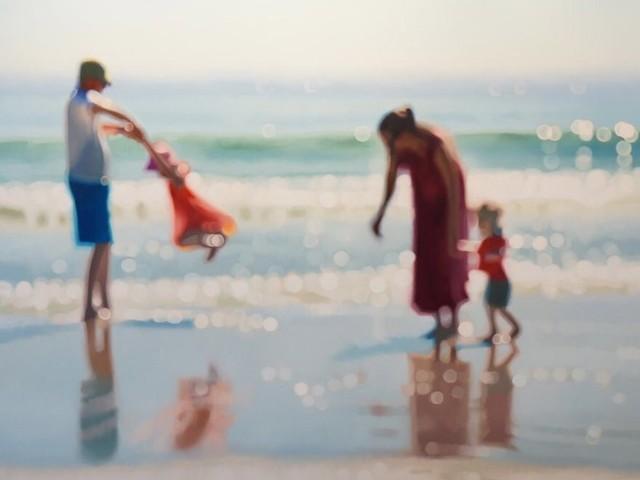 Artista faz pinturas para mostrar como as pessoas com miopia veem o mundo