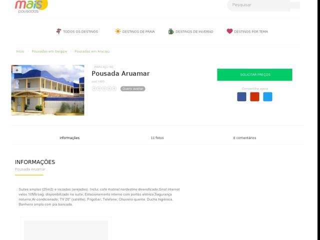 Pousada Aruamar - Aracajú - SE