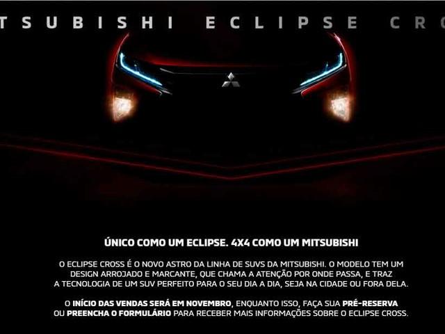 Mitsubishi Eclipse Cross é comercializado em pré-venda