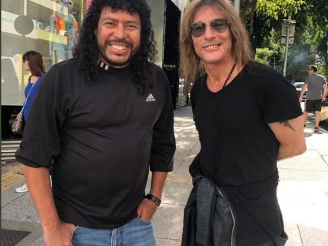 """Higuita e Caniggia dão """"rolê"""" em São Paulo antes de Argentina x Colômbia"""