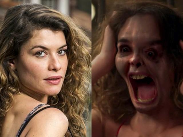 Alinne Moraes aparece com o rosto completamente desfigurado e choca telespectadores