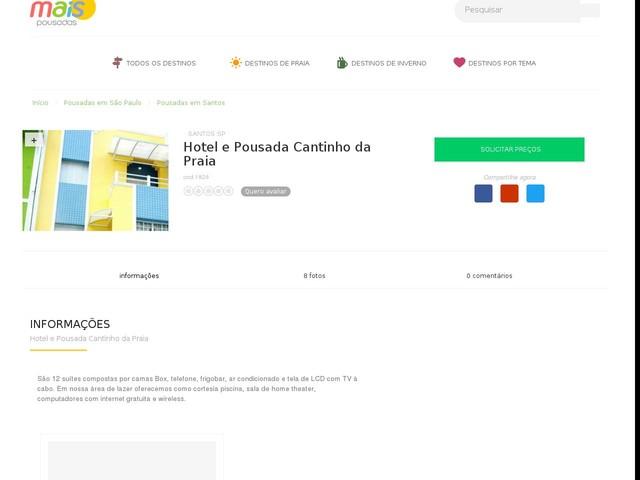 Hotel e Pousada Cantinho da Praia - Santos - SP