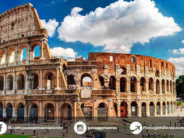 Passagem Aérea promocional para Roma – Itália