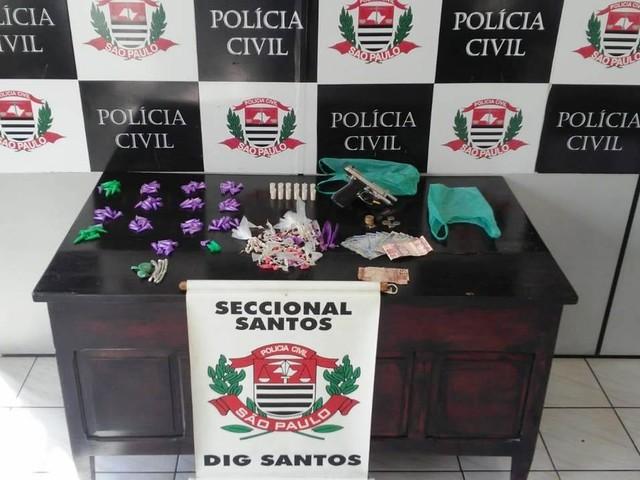 Traficante é preso em ponto de venda de drogas em Guarujá, SP