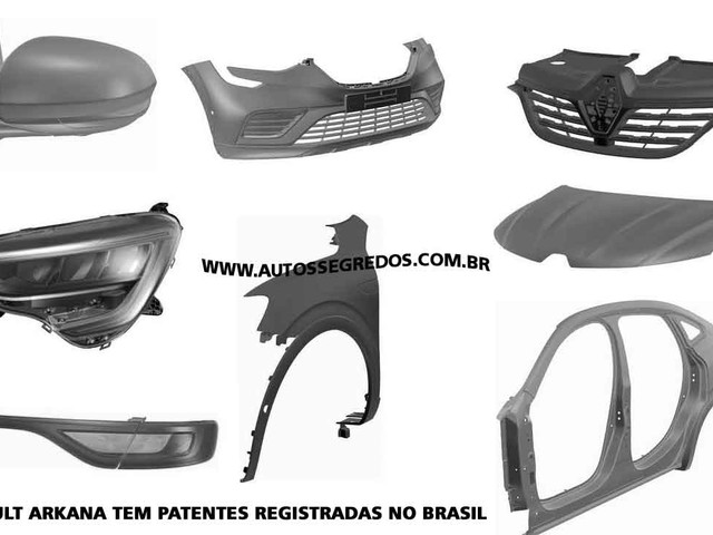 Segredo: Renault Arkana de produção é registrado no INPI