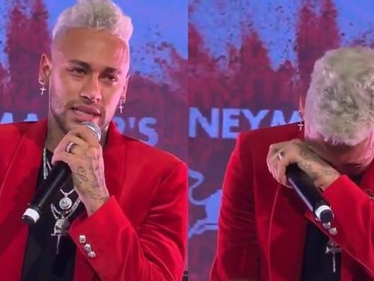 Marília Mendonça faz surpresa para Neymar, jogador se emociona e cai no choro