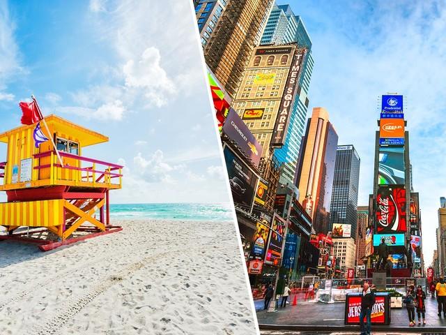 Passagens 2 em 1 para Nova York com Miami na mesma viagem a partir de R$ 1.611 saindo várias cidades brasileiras!
