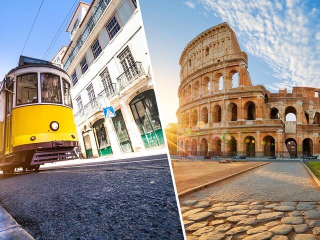 Passagens 2 em 1 para Lisboa mais Roma, Milão ou Veneza a partir de R$ 1.747 saindo do Nordeste ou R$ 2.198 de Porto Alegre e mais cidades!