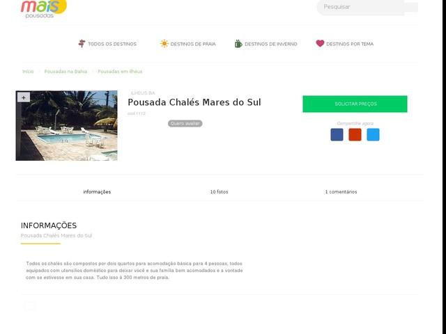 Pousada Chalés Mares do Sul - Ilhéus - BA