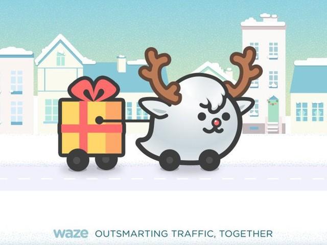 Em parceria com Cacau Show, Waze acrescenta trenó do Papai Noel ao aplicativo