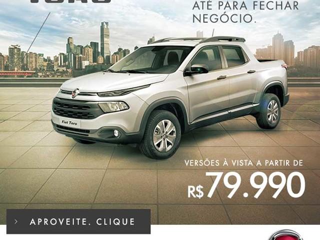 Fiat Toro 1.8 é vendida com desconto por R$ 79.990