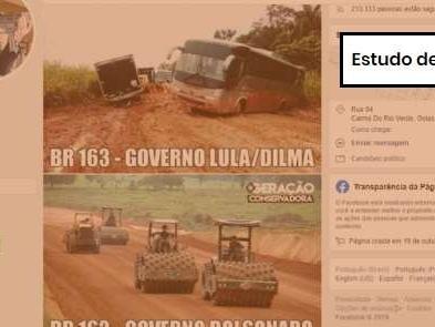 Comprova: foto de obra na BR-163 dos tempos de Lula que foi usada para elogiar Bolsonaro