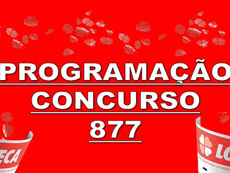 Loteca 877 programação grade dos jogos