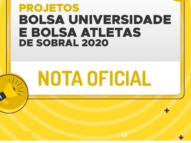 Sobral/CE: Processos seletivos dos projetos Bolsa Universidade e Bolsa Atleta são interrompidos