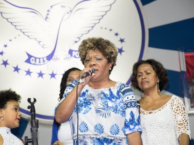 Selma Candeia participa de lançamento de samba-enredo da escola Batuque Ancestral em Natal
