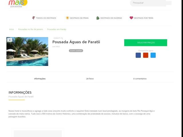 Pousada Águas de Paratii - Paraty - RJ