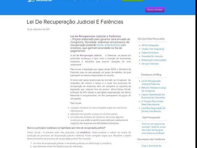 Lei De Recuperação Judicial E Falências