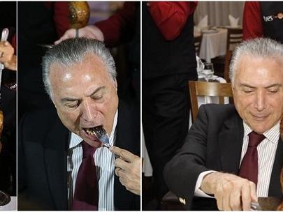 Michel Temer janta com embaixadores em churrascaria de carnes importadas