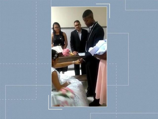 Jovem de 16 anos casa em hospital na BA 1h30 após dar à luz, e bebê acompanha cerimônia: 'Realizei dois sonhos'