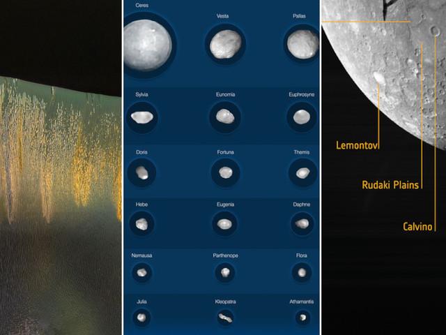 O céu não é o limite | Dunas brilhantes em Marte, fotos nítidas de asteroides e+