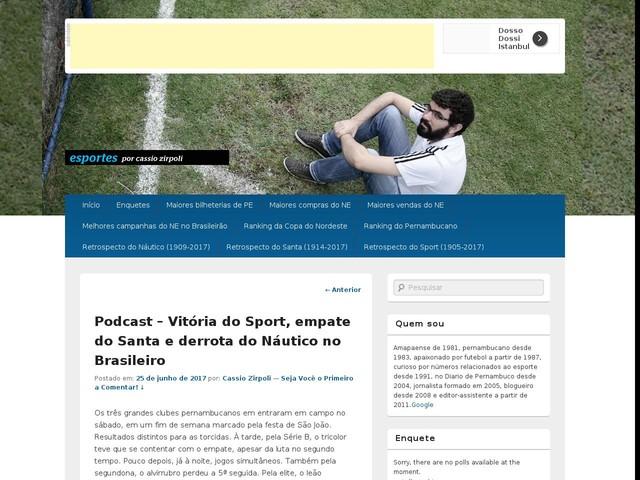 Podcast – Vitória do Sport, empate do Santa e derrota do Náutico no Brasileiro
