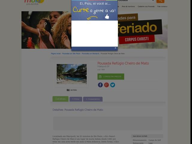 Eco Resort Refúgio Cheiro de Mato - Mairiporã - SP