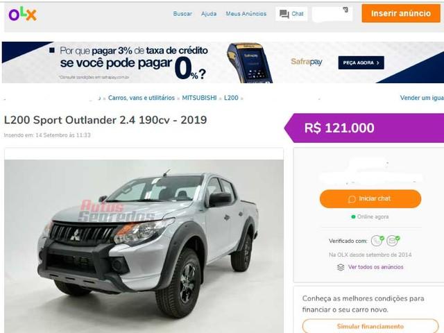 [Segredo] Mitsubishi vende L200 Triton Sport Outdoor por R$ 137.990