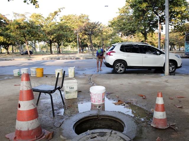 Imagens mostram lava-jato irregular na Zona Sul do Rio