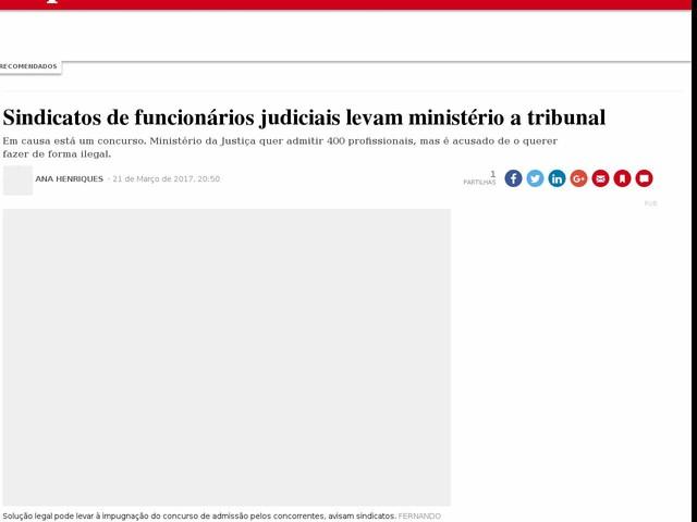 Sindicatos de funcionários judiciais levam ministério a tribunal
