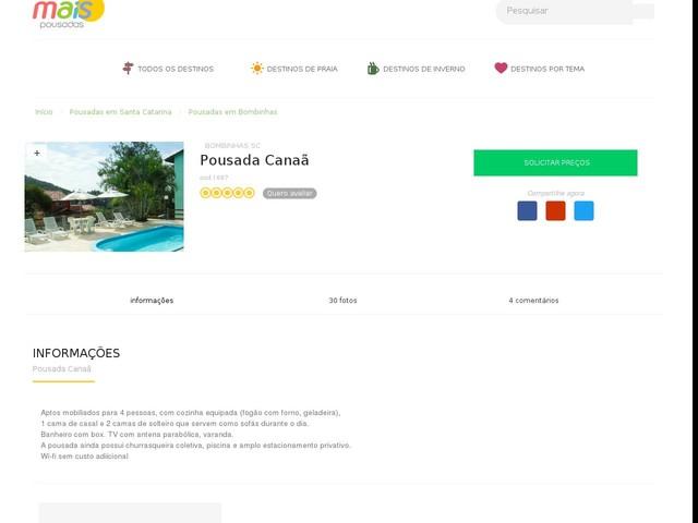 Pousada Canaã - Bombinhas - SC