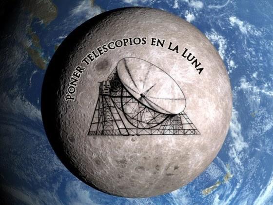 Poner telescopios en la Luna