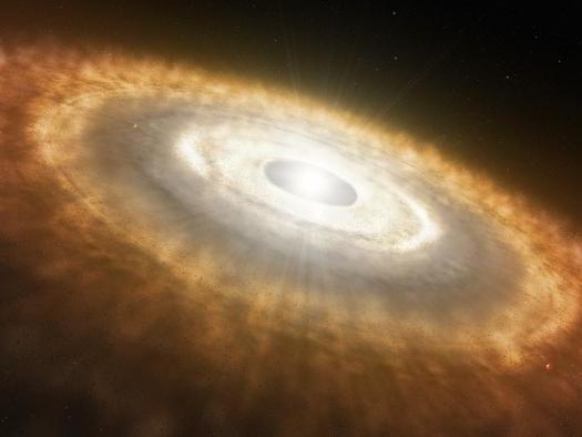 Primeiros estágios da formação de um planeta são registrados por telescópio ALMA